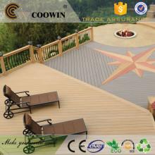 Barato sintético à prova d'água cinza colorido madeira artificial laminado projetado pavimento portátil ao ar livre