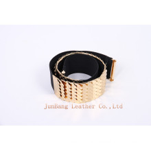 Lady′s Fashion Elastic Polyester Webbing Belt