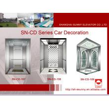 Cabine d'ascenseur de passager avec panneau d'éclairage multi-couche (SN-CD-107)