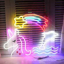 Custom Decorative Flex whole sale neon 3D signs for bar restaurant home