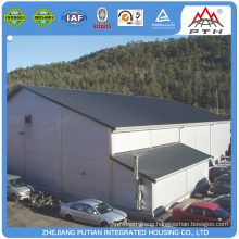 Prefabricated rolling shutter door steel structure workshop