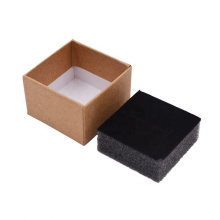 Wholesale Brown Paperboard box Kraft jewelry earring ring paper box Gift Jewelry Packaging Box