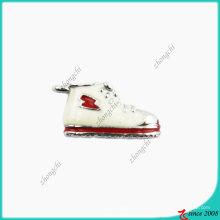 Breloque baskets en émail blanc (SPE)