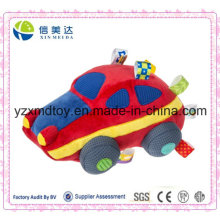 Heißes verkaufendes weiches rotes Auto-Plüsch-Baby-Spielzeug