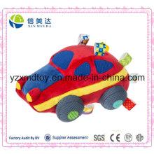 Hot vendendo carro vermelho suave carro de pelúcia brinquedo do bebê