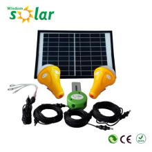 Solar-Home-Beleuchtung mit 3 led-Lampen und 1 Solar Panel Modul, solar powered Beleuchtung
