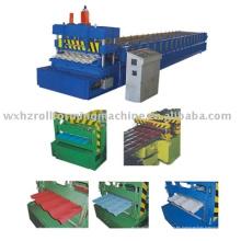 máquina formadora de rollos de acero del azulejo azotea