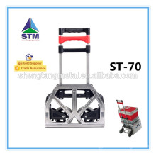 Aluminum folding hand truck with two wheel