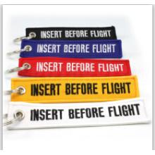 Hochwertige Custom Logo Stickerei Beliebte Polyester Schlüsselbund