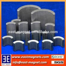 segment arc shape's Neodymium magnet for sale/pmdc motor NdFeB magnet for sale