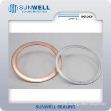 Juntas metálicas de doble pared para intercambiadores de calor