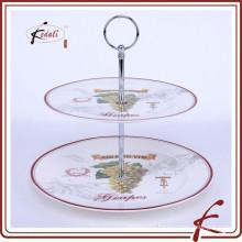2 tie Ceramic Serving plate