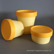 Pot de crème vide en plastique pour l'emballage cosmétique