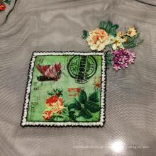 Tecido de malha de moda com bordado