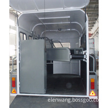 3 Horse Float 3horse Trailer with Swing out Tool Box China Imported