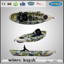 Camouflage Farbe Single LLDPE Sitzen auf der Oberseite Angeln Kajak / Boot / Kanu