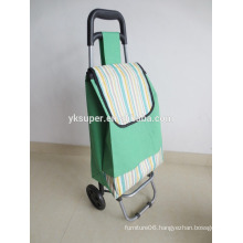 Metal frame folding hand trolley in polyester