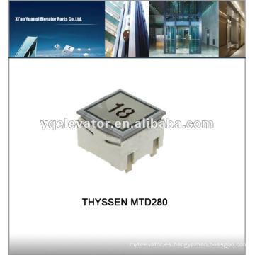 THYSSEN botón táctil de ascensor MTD280 Botón pulsador de ascensor Thyssen