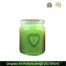 Herz-Glas-Glas-Kerze für Valentinstags Hochzeits-Dekor