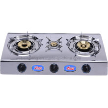 Three Burners Stainless Steel Gas Cooker