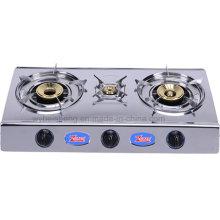 Cuisinière à gaz en acier inoxydable Three Burners