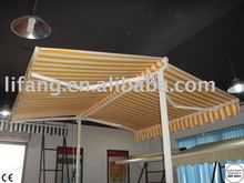 outdoor retractable free standing balcony awnings