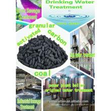 Carvão activado de palmeira para água