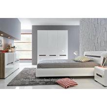 Conjunto novo de quartos de alto brilho design branco (HF-EY066)