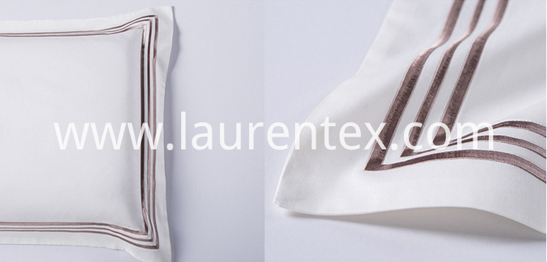 white color pillow cases with embroidery