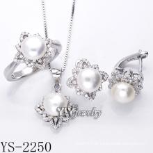 Modeschmuck Perlen Set 925 Silber für Party (YS-2250)