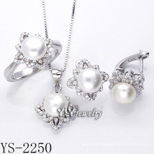 Fashion Jewellery Pearl Set 925 Silver for Party (YS-2250)