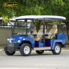 Excar 48V bleu remouled électrique voiture de patrouille touring voiture électrique chariot de golf