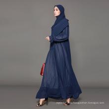 Владелец бренда дизайнер ярлык OEM производитель пакистанские одежда с рукавами кимоно спереди новая модель Абая в Дубае