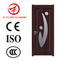 Puerta de madera única Puerta de madera Puerta de PVC