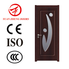 Porta de madeira única Porta de madeira de vidro Porta de PVC
