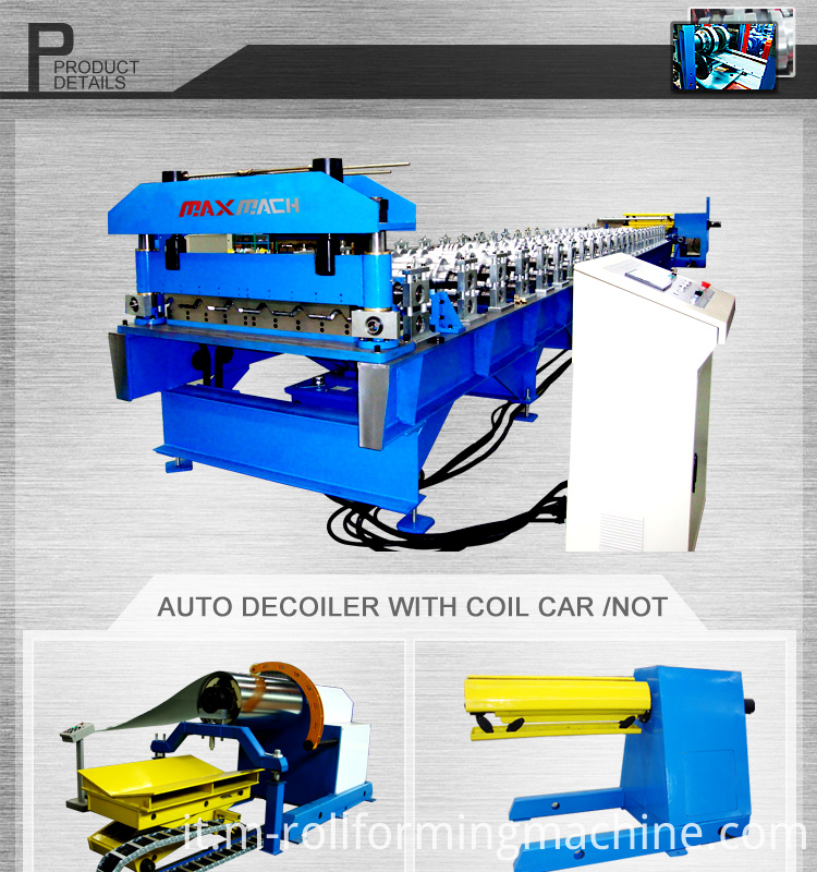 Trapezoidalroofing sheet roll forming machine