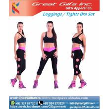 Sublimation benutzerdefinierte Sport-BH und Leggings Set Yoga tragen Sport Strumpfhosen Kleidung Set