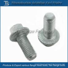 Pernos SAE J429 Grado 8 de acero aleado hexagonal con reborde serrado