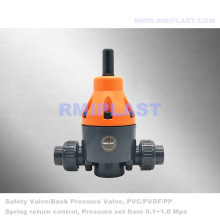 Plastic Back Pressure Valve for Piping System