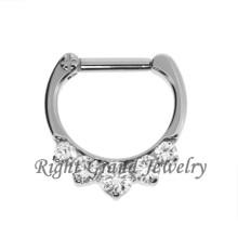 CZ puntas Set nariz Piercing septo tabique joyería anillo