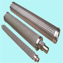 Elemento filtrante poroso sinterizado cilíndrico de acero inoxidable