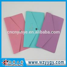 hot sale envelop silicone passport holder