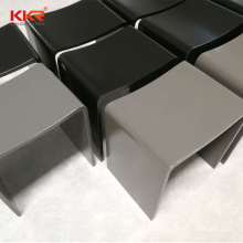 Artificial Marble Concrete Grey/ Black/ White Acrylic Solid Surface Bathroom Shower Stool