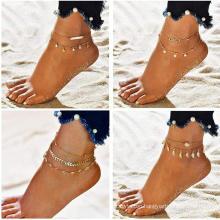 Fashion Anklets Foot Jewelry Ankle Bracelet Dainty Beach Leaf Arrow Diamond Gold Anklets for Women