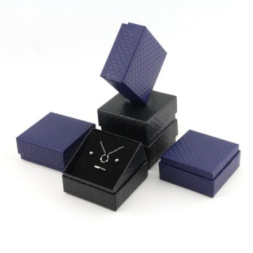 Square black jewelry box with black foam