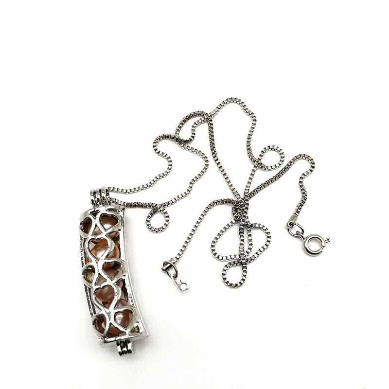 Charm Cage Pendants Necklace
