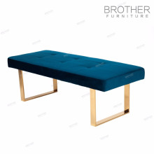 European style fabric knitted metal frame sex furniture stool foot rest ottoman