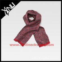 2013 AW 100% tecido de seda cachecol Paisley vermelho