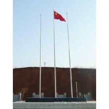 Белый полюс с покрытием из стального флага