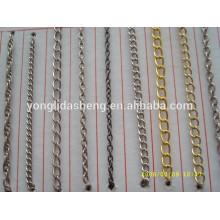 Chaîne de métal décoratif de style divers pour sacs